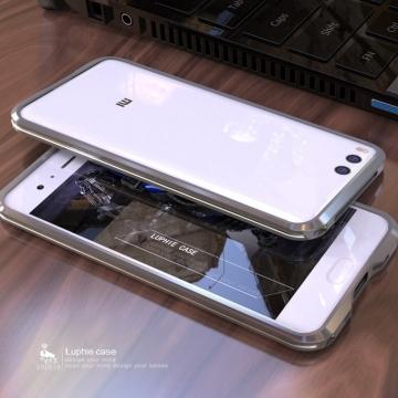 Чехол-бампер Luphie (серия Double Colours Sword) для смартфона Xiaomi Mi6, авиационный анодированный алюминий, алюминиевый бампер, двухцветный противоударный бампер из двух частей, скрученных двумя винтиками, в комплекте отвёртка и 2 запасных винтика, тканевые накладки на внутренней поверхности рамы для защиты корпуса смартфона, чёрный + красный, чёрный + фиолетовый, серый + серебряный, золотой + серебряный, синий + серебряный, Киев