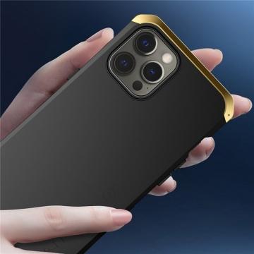 Чехол Element Case Solace (Element Box) для смартфона iPhone 12 / iPhone 12 Pro, противоударный бампер, корпус из поликарбоната, алюминиевые накладки, бампер состоит из трёх частей, скрученных четырьмя винтиками, в комплект входит отвёртка и 2 запасных винтика, резиновые прокладки на внутренней поверхности рамы для защиты корпуса смартфона, встроенные кнопки регулировки громкости, фабричная упаковка, Киев