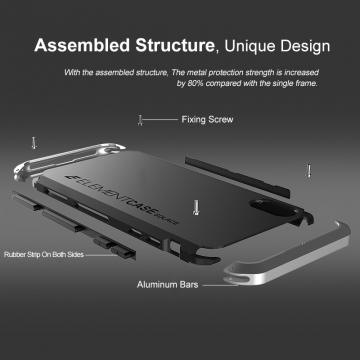 Чехол Element Case Solace для смартфона Xiaomi Mi9, противоударный бампер, корпус из поликарбоната, алюминиевые накладки, бампер состоит из трёх частей, скрученных четырьмя винтиками, в комплект входит отвёртка и 2 запасных винтика, резиновые прокладки на внутренней поверхности рамы для защиты корпуса смартфона со встроенными кнопками регулировки громкости и включения / выключения, фабричная упаковка, Киев