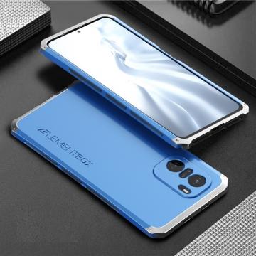 Чехол Element Case Solace Element Box для смартфона Xiaomi Poco F3 / Xiaomi Redmi K40 / Xiaomi Redmi K40 Pro / Xiaomi Mi 11i, противоударный бампер, корпус из поликарбоната, алюминиевые накладки, бампер состоит из трёх частей, скрученных четырьмя винтиками, в комплект входит отвёртка и 2 запасных винтика, резиновые прокладки на внутренней поверхности рамы для защиты корпуса смартфона со встроенными кнопками регулировки громкости и включения / выключения, фабричная упаковка, Киев