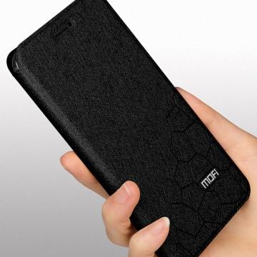 Чехол-книжка MOFI для смартфона OnePlus 6T, противоударный чехол, горизонтальный флип, силиконовая накладка, флип из искусственной кожи, металлическая пластина внутри флипа, возможность трансформации чехла в подставку для просмотра видео, чёрный, синий, золотой, розовый, красный, Киев