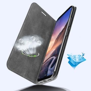 Чехол-книжка MOFI для смартфона Xiaomi Mi Max 3, противоударный чехол, горизонтальный флип, силиконовая накладка, флип из искусственной кожи, металлическая пластина внутри флипа, возможность трансформации чехла в подставку для просмотра видео, чёрный, серый, синий, красный, жёлтый, светло-коричневый, Киев
