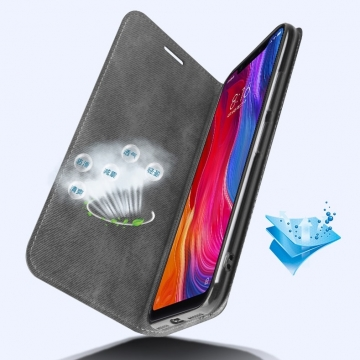 Чехол-книжка MOFI для смартфона Xiaomi Mi8, противоударный чехол, горизонтальный флип, силиконовая накладка, флип из искусственной кожи, металлическая пластина внутри флипа, возможность трансформации чехла в подставку для просмотра видео, чёрный, серый, синий, красный, жёлтый, светло-коричневый, Киев