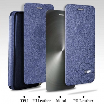 Чехол-книжка MOFI для смартфона Xiaomi Mi9, противоударный чехол, горизонтальный флип, силиконовая накладка, флип из искусственной кожи, металлическая пластина внутри флипа, возможность трансформации чехла в подставку для просмотра видео, чёрный, синий, розовый, красный, Киев