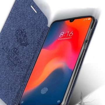 Чехол-книжка MOFI для смартфона Xiaomi Mi9 SE, противоударный чехол, горизонтальный флип, силиконовая накладка, флип из искусственной кожи, металлическая пластина внутри флипа, возможность трансформации чехла в подставку для просмотра видео, чёрный, синий, розовый, красный, Киев