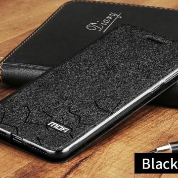 Чехол-книжка MOFI для смартфона Xiaomi Redmi 6 Pro / Xiaomi Mi A2 Lite, противоударный чехол, горизонтальный флип, силиконовая накладка, флип из искусственной кожи, металлическая пластина внутри флипа, возможность трансформации чехла в подставку для просмотра видео, чёрный, синий, золотой, розовый, Киев