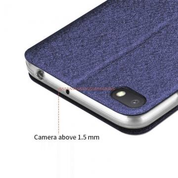 Чехол-книжка MOFI для смартфона Xiaomi Redmi 6A, противоударный чехол, горизонтальный флип, силиконовая накладка, флип из искусственной кожи, металлическая пластина внутри флипа, возможность трансформации чехла в подставку для просмотра видео, чёрный, синий, золотой, розовый, Киев