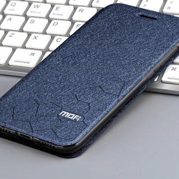 Чехол-книжка MOFI для смартфона Xiaomi Redmi Note 7, противоударный чехол, горизонтальный флип, силиконовая накладка, флип из искусственной кожи, металлическая пластина внутри флипа, возможность трансформации чехла в подставку для просмотра видео, чёрный, синий, золотой, розовый, красный, Киев