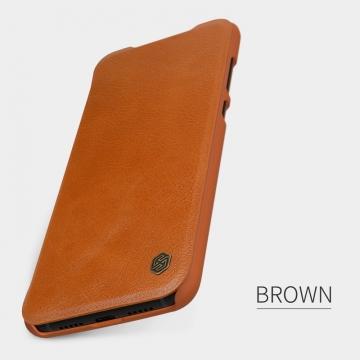 Чехол-книжка Nillkin (серия Qin) для смартфона Xiaomi Mi9, смарт-чехол, чехол-книжка, противоударный чехол, горизонтальный флип, пластик, искусственная кожа, PU, чёрный, коричневый, красный, Киев