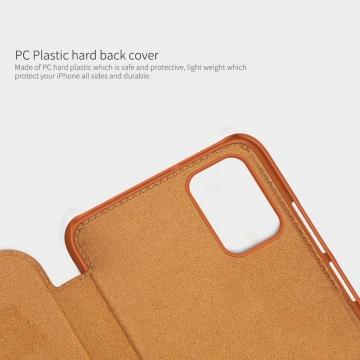 Чехол-книжка Nillkin (серия Qin) для смартфона Xiaomi Poco M3, смарт-чехол, чехол-книжка, противоударный чехол, горизонтальный флип, пластик, искусственная кожа, PU, чёрный, коричневый, красный, Киев