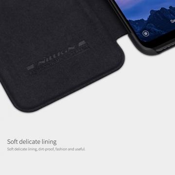 Чехол-книжка Nillkin (серия Qin) для смартфона Xiaomi Redmi 7, смарт-чехол, чехол-книжка, противоударный чехол, горизонтальный флип, пластик, искусственная кожа, PU, чёрный, коричневый, красный, Киев