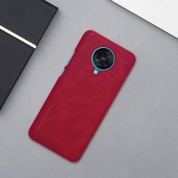 Чехол-книжка Nillkin (серия Qin) для смартфона Xiaomi Redmi K30 Pro / Xiaomi Poco F2 Pro, чехол-книжка, противоударный чехол, горизонтальный флип, пластик, искусственная кожа, PU, чёрный, коричневый, красный, Киев