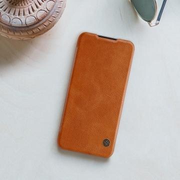 Чехол-книжка Nillkin (серия Qin) для смартфона Xiaomi Redmi Note 7 / Redmi Note 7 Pro, смарт-чехол, чехол-книжка, противоударный чехол, горизонтальный флип, пластик, искусственная кожа, PU, чёрный, коричневый, красный, Киев