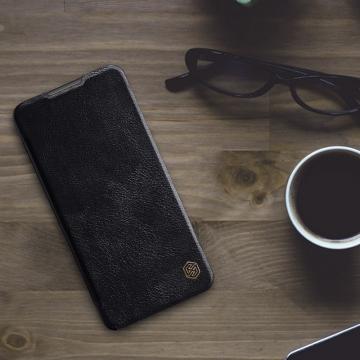 Чехол-книжка Nillkin (серия Qin) для смартфона Xiaomi Redmi Note 9 4G (China) / Xiaomi Redmi 9T / Xiaomi Redmi 9 Power, смарт-чехол, чехол-книжка, противоударный чехол, горизонтальный флип, пластик, искусственная кожа, PU, чёрный, коричневый, красный, Киев