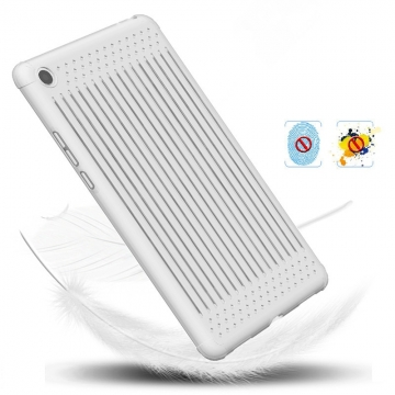 Чехол-накладка (Airbag Version) для планшета Xiaomi Mi Pad 4, MiPad 4, термополиуретан, дополнительная защита углов смартфона «воздушными подушками», отверстия для охлаждения, накладки на кнопки регулировки громкости и включения / выключения, чёрный, белый полупрозрачный, красный полупрозрачный, голубой полупрозрачный, Киев
