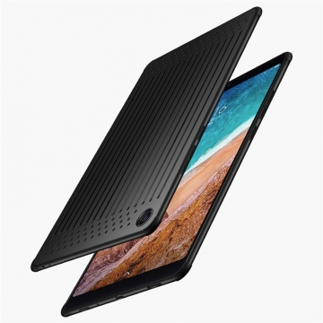 Чехол-накладка (Airbag Version) для планшета Xiaomi Mi Pad 4 Plus, MiPad 4 Plus, термополиуретан, дополнительная защита углов смартфона «воздушными подушками», отверстия для охлаждения, накладки на кнопки регулировки громкости и включения / выключения, чёрный, белый полупрозрачный, красный полупрозрачный, голубой полупрозрачный, Киев