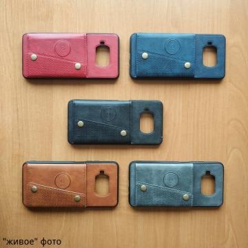 Чехол-накладка (бумажник + крепление к магниту) для смартфона Xiaomi Mi10T Lite / Xiaomi Redmi Note 9 Pro 5G (China), противоударный бампер, пластик, термополиуретан, искусственная кожа, отделение для четырёх платёжных карт / визиток, возможность трансформации чехла в подставку для просмотра видео, двойное отверстие для крепления ремешка, металлический элемент для крепления к автомобильным магнитным держателям, чёрный, серый, синий, коричневый, красный, Киев