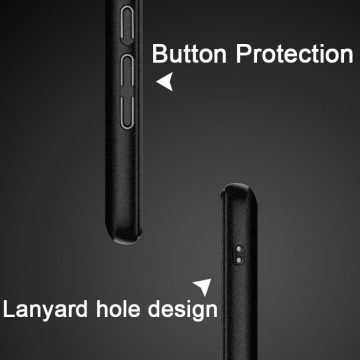Чехол-накладка iMak (серия Cowboy Case) + плёнка для смартфона Xiaomi Pocophone F1 / Xiaomi Poco F1, противоударный бампер, шероховатый пластик, поликарбонат, защитная плёнка, съёмное кольцо для пальца, крючок для крепления в автомобиле, чёрный, синий, Киев