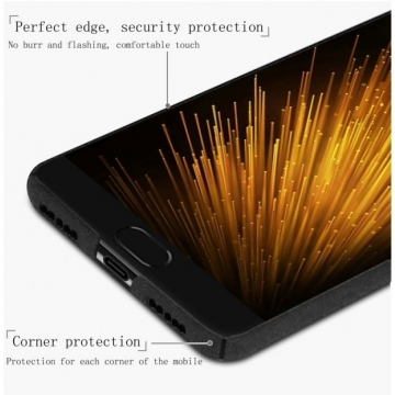 Чехол-накладка iMak (серия Cowboy Shell) + плёнка для смартфона Xiaomi Mi6, бампер, шероховатый пластик, поликарбонат, защитная плёнка, съёмное кольцо для пальца, крючок для крепления в автомобиле, чёрный, синий, Киев
