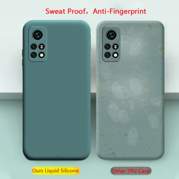 Чехол-накладка Liquid Silicone для смартфона Xiaomi Mi10T / Xiaomi Mi10T Pro / Xiaomi Redmi K30S, противоударный бампер, термополиуретан с мягкой подкладкой, эластичность в сочетании с устойчивостью к растяжению, устойчивость к царапинам, накладки на кнопки регулировки громкости и включения / выключения, двойное отверстие для крепления ремешка, чёрный, синий, серый, сиреневый, красный, зелёный, жёлтый, персиковый, розовый, Киев