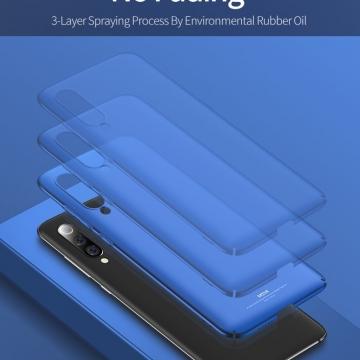 Чехол-накладка MSVII для смартфона Xiaomi Mi9 SE, противоударный тонкий бампер, шероховатый пластик, гладкий пластик, чёрный, синий, Киев