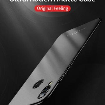 Чехол-накладка MSVII для смартфона Xiaomi Redmi Note 7 / Redmi Note 7 Pro, противоударный тонкий бампер, шероховатый пластик, гладкий пластик, чёрный, синий, Киев