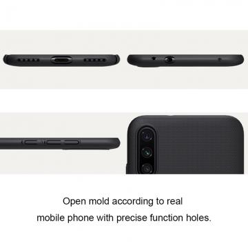 Чехол-накладка Nillkin Frosted Shield для смартфона Xiaomi Mi A3 / Xiaomi Mi CC9e, противоударный бампер, рифлёный пластик, чёрный, белый, золотой, красный, сине-зелёный (Peacock Blue), подставка для просмотра видео, Киев