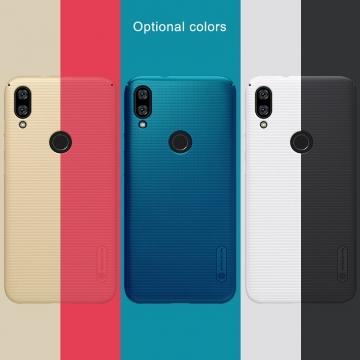 Чехол-накладка Nillkin Super Frosted Shield для смартфона Xiaomi Mi Play, противоударный бампер, рифлёный пластик, чёрный, белый, золотой, красный, сапфирово-синий (Sapphire Blue), сине-зелёный (Peacock Blue), подставка для просмотра видео, Киев