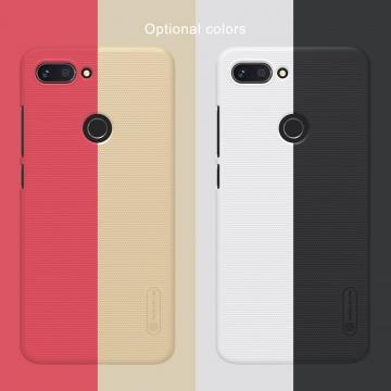 Чехол-накладка Nillkin Frosted Shield для смартфона Xiaomi Mi8 Lite, противоударный бампер, рифлёный пластик, чёрный, белый, золотой, красный, подставка для просмотра видео, Киев