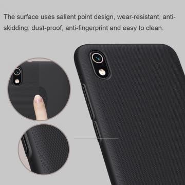 Чехол-накладка Nillkin Super Frosted Shield для смартфона Xiaomi Redmi 7A, противоударный бампер, рифлёный пластик, чёрный, белый, золотой, красный, сапфирово-синий (Sapphire Blue), сине-зелёный (Peacock Blue), подставка для просмотра видео, Киев