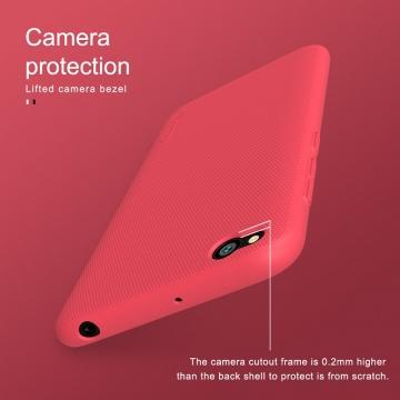 Чехол-накладка Nillkin Frosted Shield для смартфона Xiaomi Redmi Go, противоударный бампер, рифлёный пластик, чёрный, белый, золотой, красный, подставка для просмотра видео, Киев