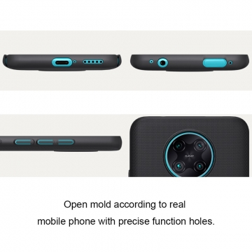 Чехол-накладка Nillkin Super Frosted Shield для смартфона Xiaomi Redmi K30 Pro / Xiaomi Poco F2 Pro, противоударный бампер, рифлёный пластик, чёрный, белый, золотой, красный, сапфирово-синий (Sapphire Blue), сине-зелёный (Peacock Blue), подставка для просмотра видео, Киев