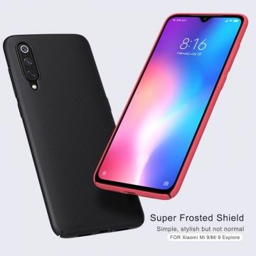 Чехол-накладка Nillkin Super Frosted Shield для смартфона Xiaomi Mi9, противоударный бампер, рифлёный пластик, чёрный, белый, золотой, красный, сапфирово-синий (Sapphire Blue), сине-зелёный (Peacock Blue), подставка для просмотра видео, Киев