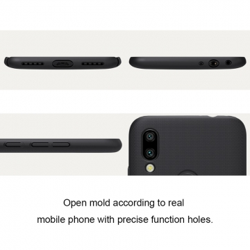 Чехол-накладка Nillkin Super Frosted Shield для смартфона Xiaomi Redmi 7, противоударный бампер, рифлёный пластик, чёрный, белый, золотой, красный, сапфирово-синий (Sapphire Blue), сине-зелёный (Peacock Blue), подставка для просмотра видео, Киев