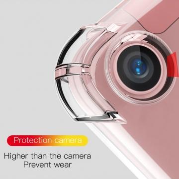 Чехол-накладка PZOZ (Airbag Version) для планшета Xiaomi Mi Pad 4 Plus, термополиуретан, дополнительная защита углов смартфона «воздушными подушками», накладки на кнопки регулировки громкости и включения / выключения, прозрачный, прозрачный с чёрным оттенком, прозрачный с красным оттенком, Киев