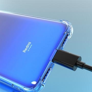 Чехол-накладка PZOZ (Airbag Version) для смартфона Xiaomi RedMi 7, термополиуретан, дополнительная защита углов смартфона «воздушными подушками», накладки на кнопки регулировки громкости и включения / выключения, двойное отверстие для крепления ремешка, прозрачный, прозрачный с чёрным оттенком, прозрачный с красным оттенком, Киев