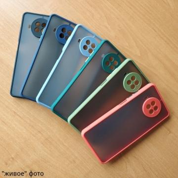 Чехол-накладка с контрастными кнопками для Xiaomi Mi10T Lite / Xiaomi Redmi Note 9 Pro 5G (China), противоударный бампер, задняя панель из полупрозрачного поликарбоната + рама из термополиуретана, накладка на кнопки регулировки громкости, двойное отверстие для крепления ремешка, чёрный, серый, синий, тёмно-зелёный, светло-зелёный, красный, розовый, Киев
