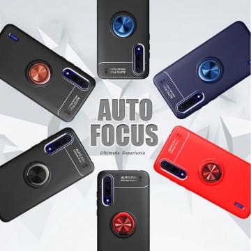 Чехол-накладка с магнитным кольцом для смартфона Xiaomi Mi A3 / Xiaomi Mi CC9e, противоударный чехол, термополиуретан (TPU), накладки на кнопки регулировки громкости и включения / выключения, несъёмное кольцо для пальца, которое также можно использовать как подставку при просмотре видео, угол поворота кольца 360 градусов, угол наклона кольца 150 градусов, металлический сердечник крепится к автомобильным магнитным держателям, чёрный, синий, красный, розовый, Киев