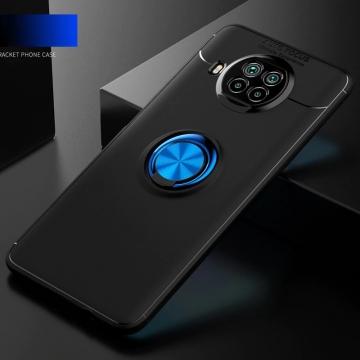 Чехол-накладка с магнитным кольцом для смартфона Xiaomi Mi10T Lite / Xiaomi Redmi Note 9 Pro 5G (China), противоударный бампер, термополиуретан (TPU), накладки на кнопки регулировки громкости и включения / выключения, несъёмное кольцо для пальца, которое также можно использовать как подставку при просмотре видео, угол поворота кольца 360 градусов, угол наклона кольца 150 градусов, металлический сердечник крепится к автомобильным магнитным держателям, чёрный, синий, красный, розовый, Киев