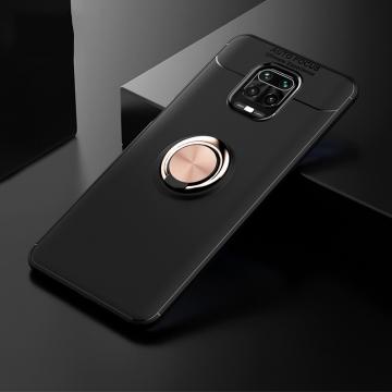 Чехол-накладка с магнитным кольцом для смартфона Xiaomi Redmi Note 9 Pro / Xiaomi Redmi Note 9 Pro Max / Xiaomi Redmi Note 9S, противоударный чехол, термополиуретан (TPU), накладки на кнопки регулировки громкости и включения / выключения, кольцо для пальца, которое также можно использовать как подставку при просмотре видео, угол поворота кольца 360 градусов, угол наклона кольца 150 градусов, металлический сердечник крепится к автомобильным магнитным держателям, чёрный, синий, красный, розовый, Киев