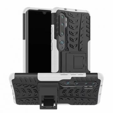 Чехол-накладка с подставкой для смартфона Xiaomi Mi Note 10 / Xiaomi Mi CC9 Pro, бронированный бампер, поликарбонат + термополиуретан, сочетание жёсткости с гибкостью, в чехол встроена подставка для просмотра видео, чёрный + чёрный, чёрный + красный, чёрный + оранжевый, чёрный +розовый, чёрный + синий, чёрный + фиолетовый, чёрный + зелёный, чёрный + белый, Киев