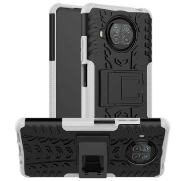 Чехол-накладка с подставкой для смартфона Xiaomi Mi10T Lite / Xiaomi Redmi Note 9 Pro 5G (China), бронированный противоударный бампер, поликарбонат + термополиуретан, сочетание жёсткости с гибкостью, в чехол встроена подставка для просмотра видео, чёрный + чёрный, чёрный + красный, чёрный + оранжевый, чёрный +розовый, чёрный + синий, чёрный + фиолетовый, чёрный + зелёный, чёрный + белый, Киев