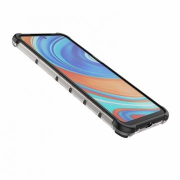 Чехол-накладка с рисунком в виде сот для смартфона Xiaomi Redmi Note 9 Pro / Xiaomi Redmi Note 9 Pro Max / Xiaomi Redmi Note 9S, задняя панель из поликарбоната, рама из термополиуретана, сочетание жёсткости с гибкостью, дополнительная защита углов смартфона «воздушными подушками», накладка на кнопки регулировки громкости, чёрный + прозрачный, чёрный + серый, чёрный + красный, чёрный + синий, чёрный + зелёный, Киев