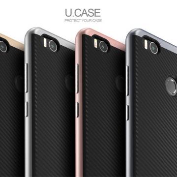 Чехол-накладка U.Case для смартфона Xiaomi Mi4S, рисунок «под карбон», бампер, iPaky, термополиуретан, чёрный, тёмно-серый, серебряный, золотой, Киев