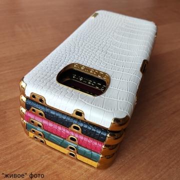 Чехол-накладка X-Case с покрытием под крокодиловую кожу для Xiaomi Poco X3 / Xiaomi Poco X3 Pro, противоударный бампер, термополиуретан, искусственная кожа, рама из пластика, защита углов смартфона «воздушными подушками», в заднюю панель встроена накладка для защиты блока камер, накладка на кнопки регулировки громкости, двойное отверстие для крепления ремешка, металлический шильдик X-Cas, чёрный, красный, зелёный, белый, светло коричневый, Киев