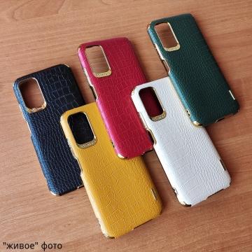 Чехол-накладка X-Case с покрытием под крокодиловую кожу для Xiaomi Redmi Note 9 4G (China) / Xiaomi Redmi 9T / Xiaomi Redmi 9 Power / Xiaomi Poco M3, противоударный бампер, термополиуретан, искусственная кожа, рама из пластика, защита углов смартфона «воздушными подушками», в заднюю панель встроена накладка для защиты блока камер, накладка на кнопки регулировки громкости, двойное отверстие для крепления ремешка, металлический шильдик X-Cas, чёрный, красный, зелёный, белый, светло коричневый, Киев
