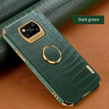 Чехол-накладка X-Case с покрытием под крокодиловую кожу для Xiaomi Poco X3 / Xiaomi Poco X3 Pro, противоударный бампер, термополиуретан, искусственная кожа, рама из пластика, защита углов смартфона «воздушными подушками», в заднюю панель встроена накладка для защиты блока камер, накладка на кнопки регулировки громкости, двойное отверстие для крепления ремешка, металлический шильдик X-Case, в комплект входит съёмное кольцо для пальца, чёрный, красный, зелёный, белый, светло коричневый, Киев