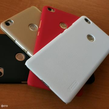 Чехол Nillkin + плёнка для Xiaomi Mi Max, бампер, пластик, чёрный, белый, золотой, красный, Киев