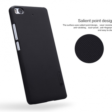 Чехол Nillkin + плёнка для Xiaomi Mi5S, бампер, чехол-накладка, рифлёный пластик, чёрный, белый, золотой, красный, коричневый, Киев