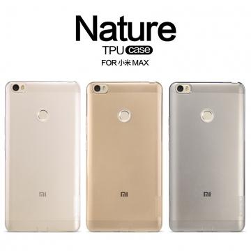 Чехол Nillkin (серия Nature) для смартфона Xiaomi Mi Max, бампер, силикон, прозрачный, серый, жёлтый, заглушки, Киев